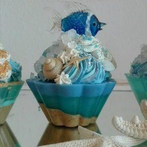 Cupcakes soap - Pesce Blu