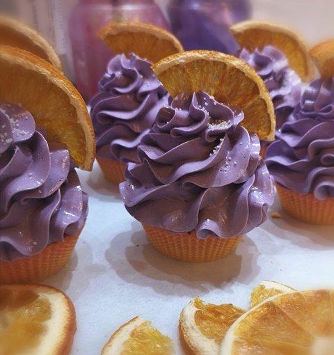 cupcakes soaps arancio e lavanda