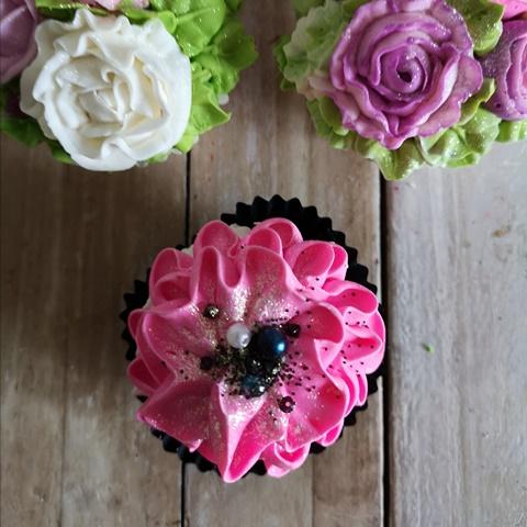 Cupcake soap FIORE FUCSIA
